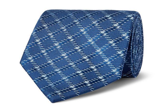 CHARVET 8.5cm Проверенный шелко-жаккардовый галстук