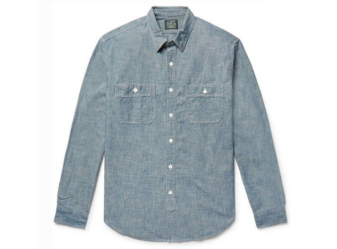 Футболка J.CREW Cotton-Chambray