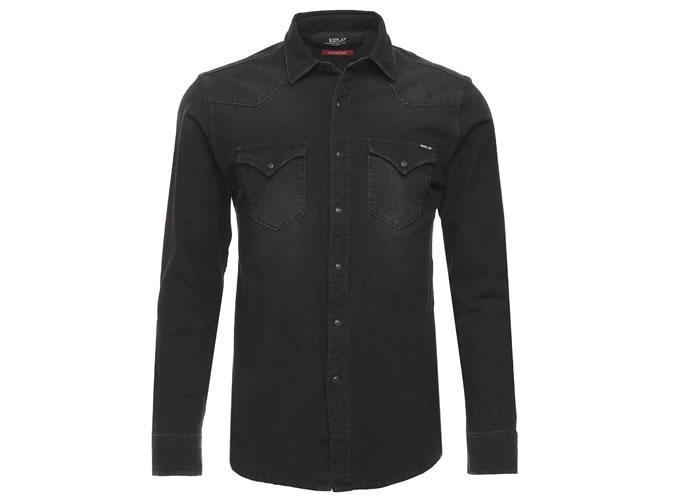 Повторная черная джинсовая рубашка